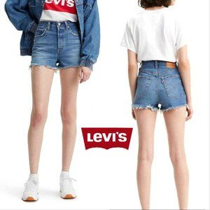 Levis Jean Shorts Ribcage Premium High Rise NWT